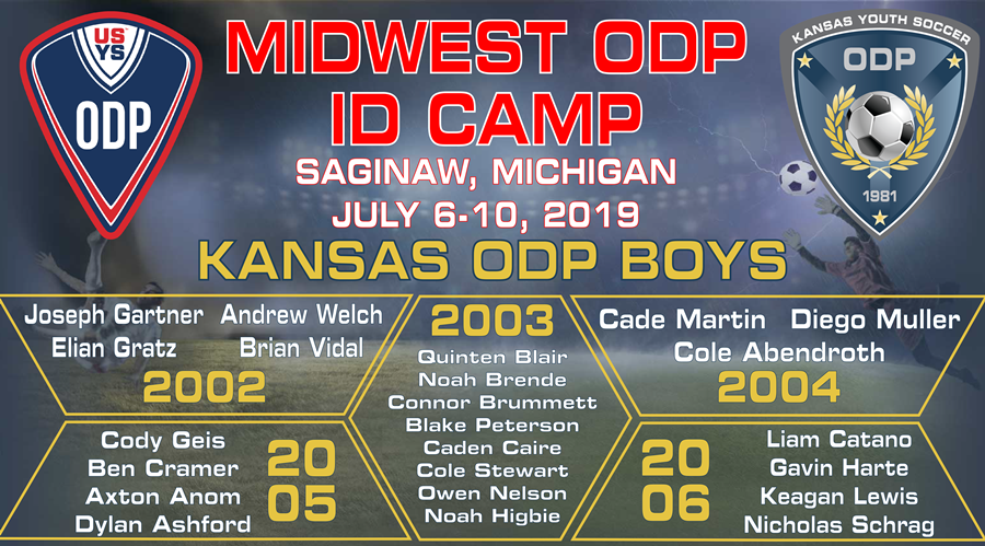 Kansas ODP MW Camp Invites_Boys