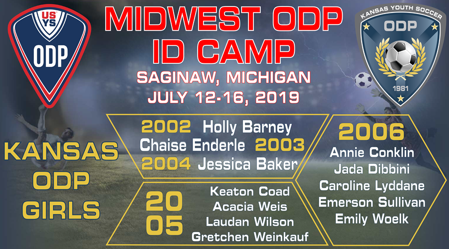 Kansas ODP MW Camp Invites_Girls